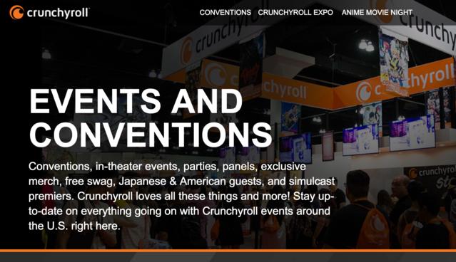 Crunchyroll Announces Convention Partnership Program