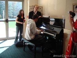 Matt Myers on the piano