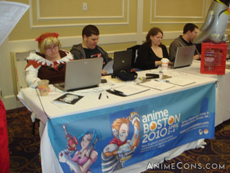 Anime Boston 2010 table