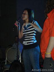 Brina Palencia sings at the dance
