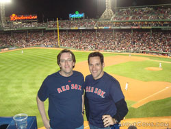 PatrickD and Travis Willingham at Fenway Park