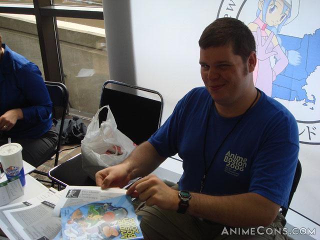 Doug arranges Providence Anime Conference flyers
