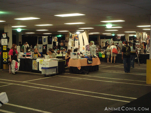 Artists' Alley in the basement garage