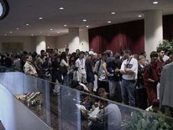 The dealers' room line