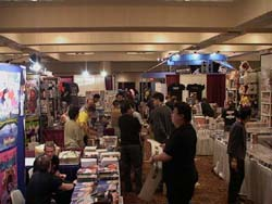 The dealers' room before it opens