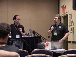 David Williams and Matt Greenfield at the ADV panel