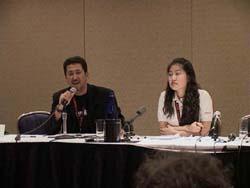 Ken and Grace at the Bandai panel
