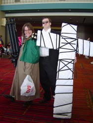 Millie Thompson and Wolfwood from <I>Trigun</I>