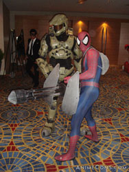 Master Chief and Spiderman