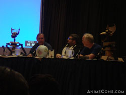 Trace Beaulieu and Bill Corbett at the Crow vs Crow panel