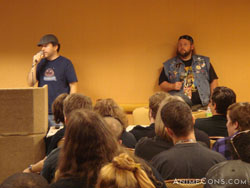 The Megas XLR panel featured the show's creator and the inspiration for Coop