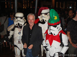 Anthony Daniels and Stormtroopers