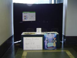 The Anime Boston 2004 booth during setup