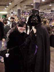 Vader knows how to pick up chicks