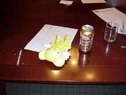 Kero-chan got drunk on cream soda in the con suite
