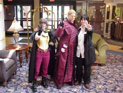 Lina Inverse, Vash The Stampede, and Nicholas D. Wolfwood