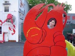 Luci Christian as a lobster