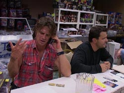 Scott McNeil chats on the phone with Lizzard