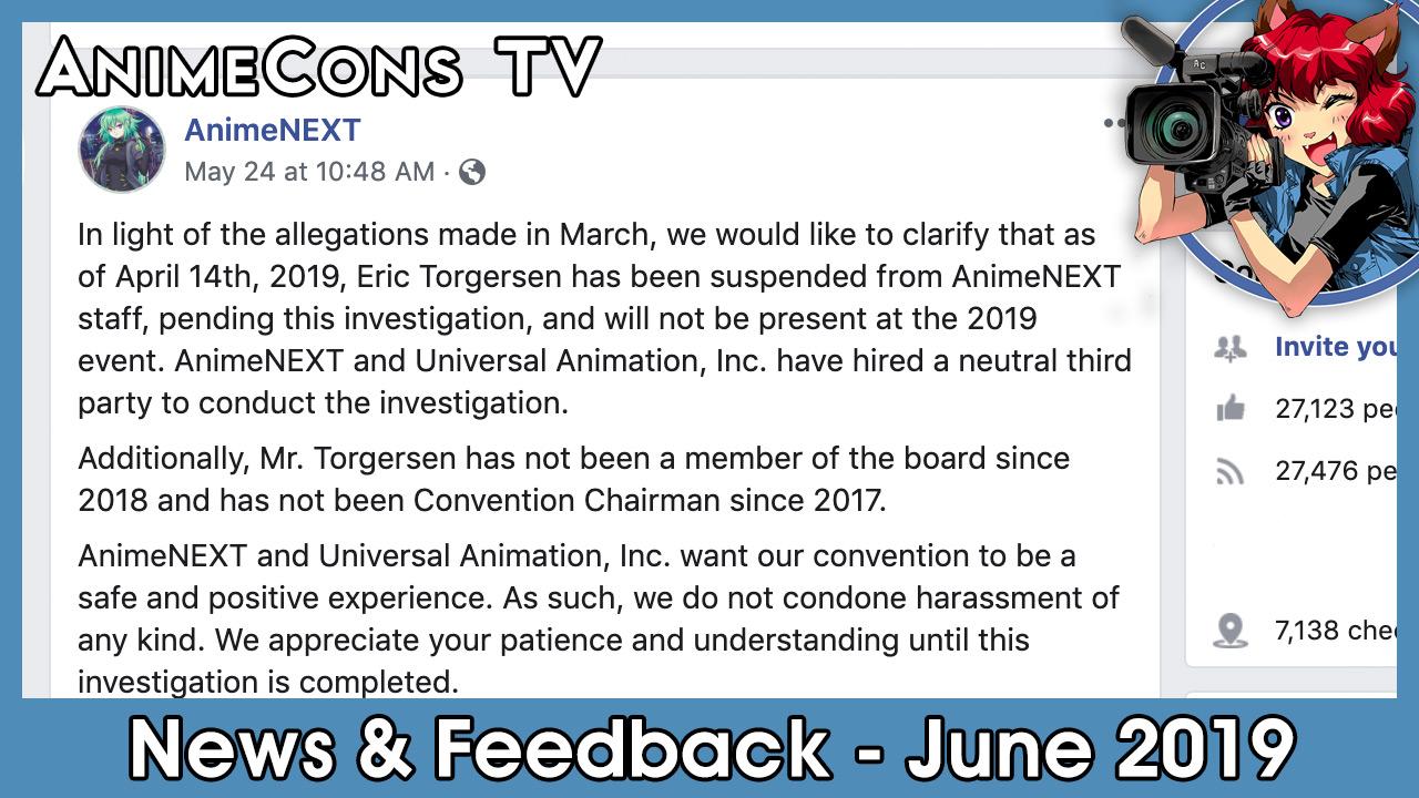 AnimeCons TV - News & Feedback - June 2019