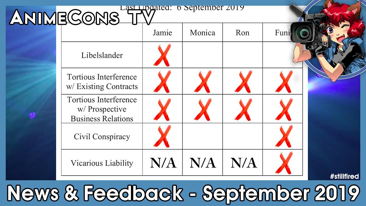 AnimeCons TV - News & Feedback - September 2019