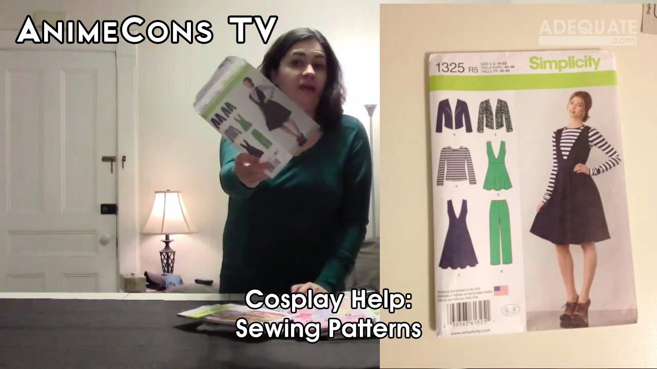 AnimeCons TV - Cosplay Help: Sewing Patterns (Part 1)