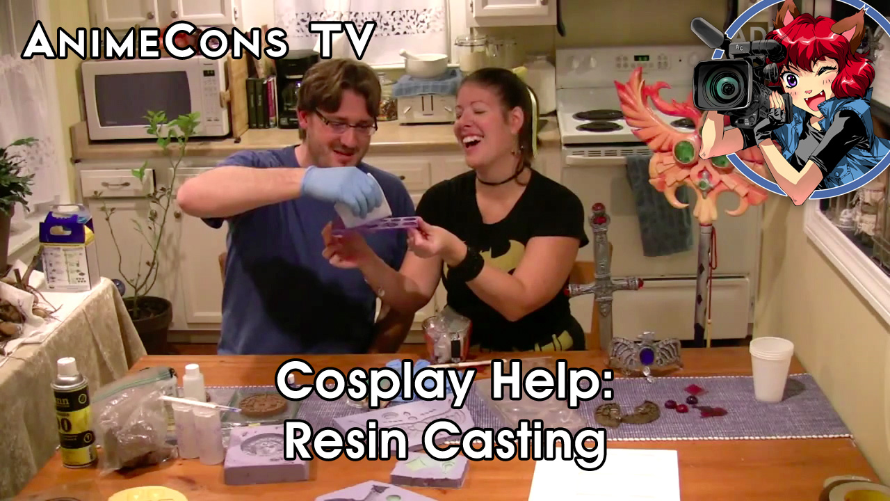 AnimeCons TV - Cosplay Help: Resin Casting