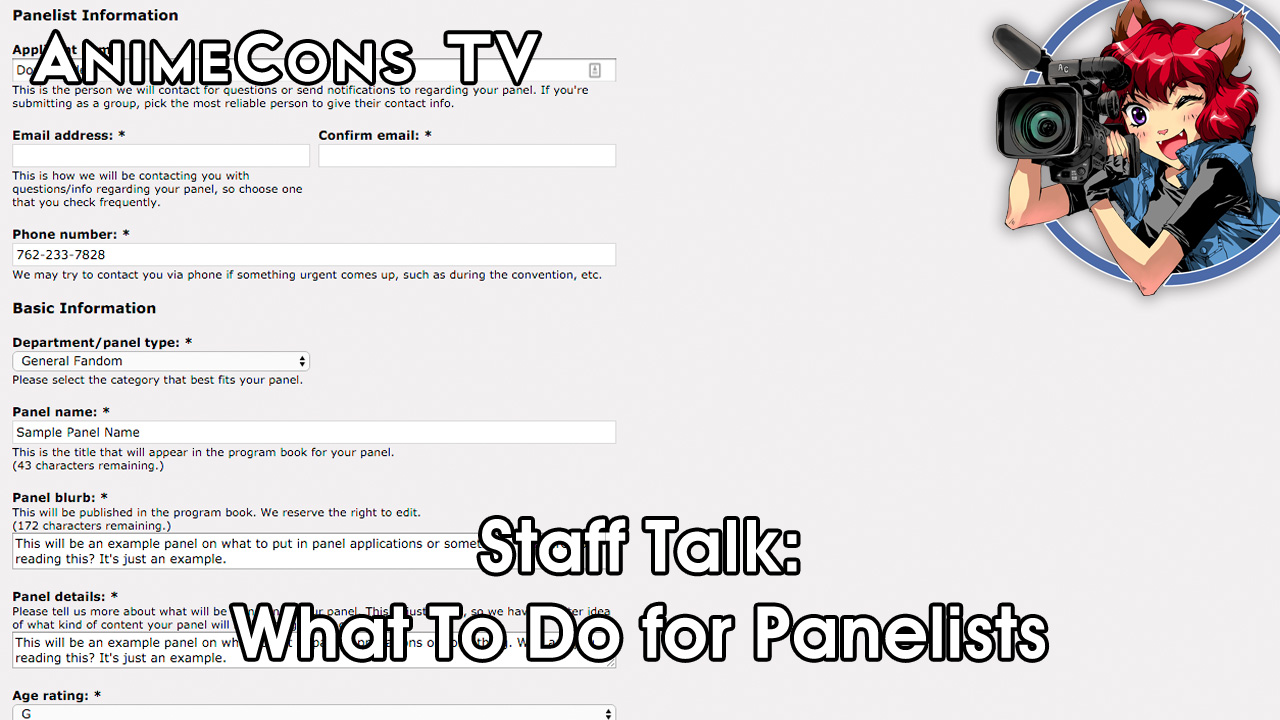 AnimeCons TV - Staff Talk: What To Do for Panelists
