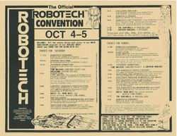The Official Robotech Convention 1986
