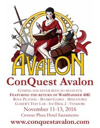 ConQuest Avalon 2016
