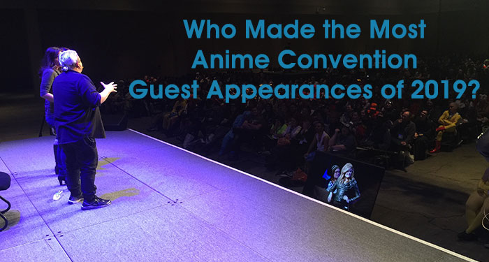 Most Anime Convention Guest Appearances of 2019
