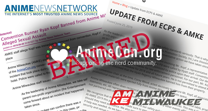 Convention Planner Ryan Kopf Banned from Anime Milwaukee Following Sexual Assault Allegations