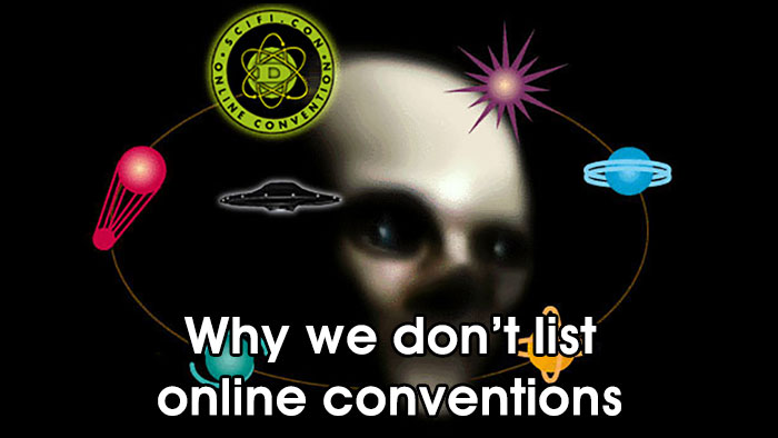 Why we don't list online conventions