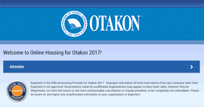 Otakon Issues Warning of Fake Hotel Web Site