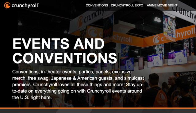 Crunchyroll Announces Convention Partnership Program