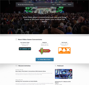 VideoGameCons.com Launches Complete Site Redesign