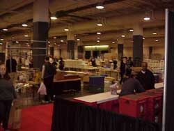 The dealers have begun taking down their booths