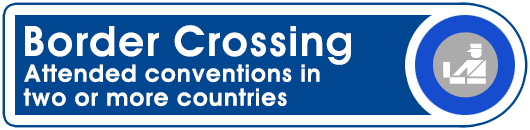 Border Crossing: Attended conventions in two or more countries